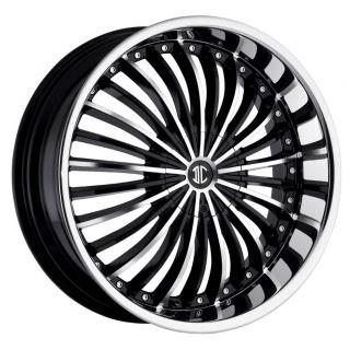 24 inch 2CRAVE NO19 Black Wheels Rims 6x5 5 Avalanche Silverado