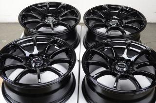4x114 3 Black Effect Wheels Civic Accord Yaris Integra Neon 4 Lug Rims