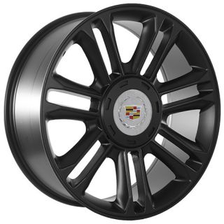 Cadillac 2012 ESV Escalade platinum edition matte black wheels rims