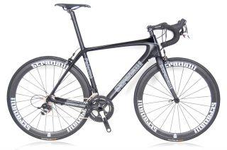 Bicycle SRAM Red Black Carbon Road Bike Clincher Wheels 51 Cm