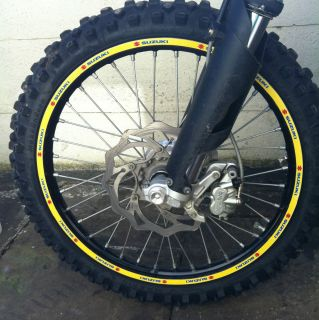 Suzuki RMZ RM Rim Wheel Graphics Decals Stickers to Fit 125 250 450
