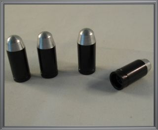 Silver 45 Cal Bullet Custom Valve Stem Caps Car Truck Rims