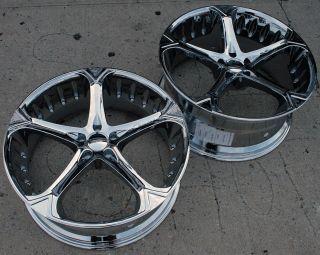 Giovanna Dalar 5V 22 Chrome Rims Wheels M45 Staggered