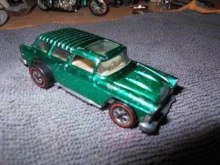 Hot Wheels Orig Redline Classic 55 Nomad USA Met Green GD Cond Look