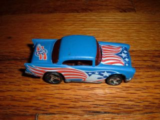 Vintage 1976 Hot Wheels Toy Car 1957 57 Chevy Chevrolet Red White Blue