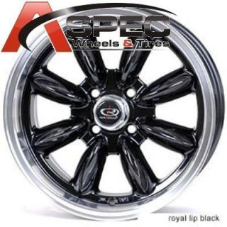 Rota RB 16x7 4x100 ET40 56 1 Royal Black Rims Wheels