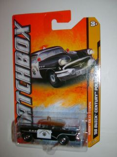 Hotwheels Matchbox 56 Buick Century Police Car MBX Old Town 2012