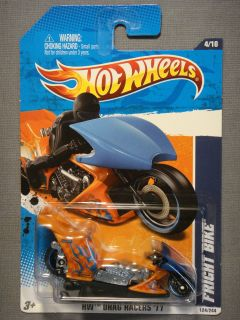 Hot Wheels HW Drag Racers 11 Fright Bike 4 Diecast Car Motorcycle New