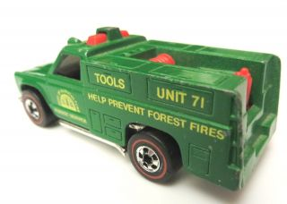 Hot Wheels Redline 1975 Fyling Colors Ranger Rig Green Forest Service