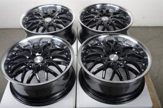 Black 4 Lug Wheels Miata Cabrio Jetta Golf Accord Cooper Rims