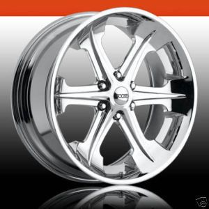 20x9 Whip 6 Lug 6x135 Chrome One Single Replacement Wheel Rim
