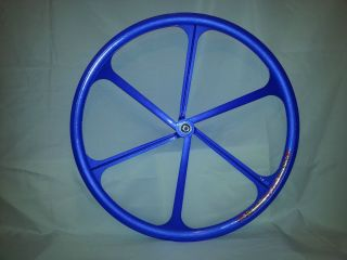 Aerospoke Composite Track Fixie Bike Wheel Black White Blue Rim