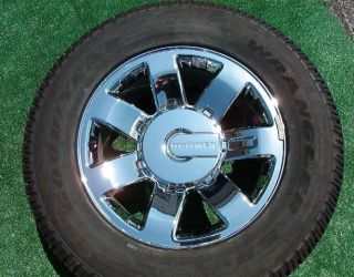 Genuine GM Factory Chrome 20 inch Hummer H2 Wheels Tires