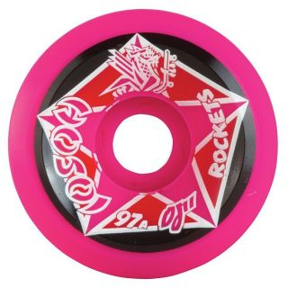 OJ2 Christian Hosoi Rockets Skateboard Wheels 61mm 97A Pink