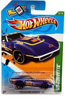 2012 Hot Wheels Treasure Hunt 55 1969 Chevy Corvette