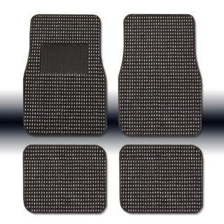 New Black Universal Size Elegant Designer Car Carpet Floor Mats Set