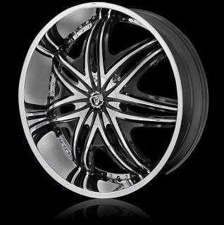 24 Diablo Wheels Morpheus Chrome Rim Tire Lexus Escalade Toyota Range