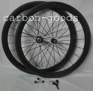 Finish Carbon Fiber Road Bike 50mm Tubular Wheels Wheelset