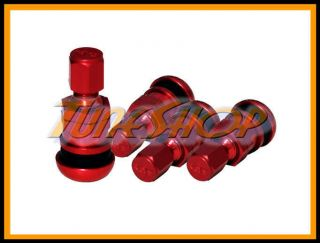 Red Forged Aluminum Valve Stem Caps Wheels Rims Universal U