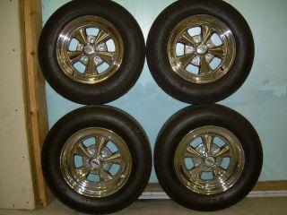 Cragar 08 61 s s Super Sport Chrome Wheels and Tires Set of 4