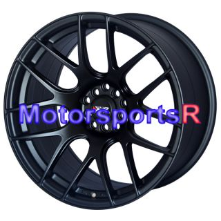 17 XXR 530 Flat Black Staggered Rims Wheels Concave Stance 5x114 3