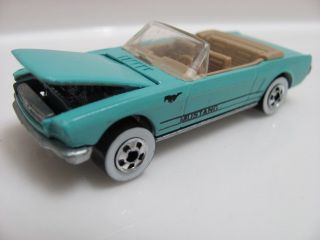Hot Wheels 65 Mustang Convertible Blue Loose