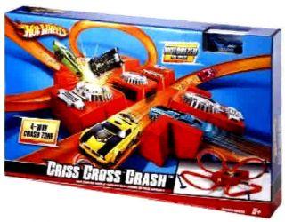 New Hot Wheels Criss Cross Crash Motorized Track Set