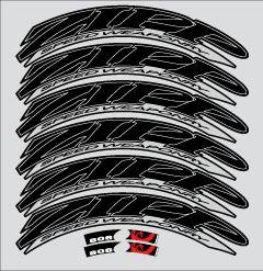 808 1080 Firecrest Beyond Black Decals Stickers for Zipp Wheels