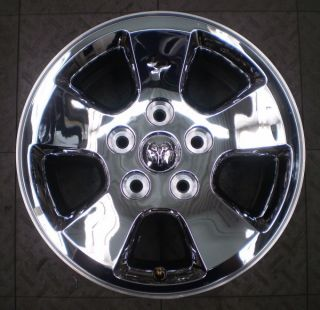 2266 Dodge RAM 1500 17 Factory Chrome Clad Alloy Wheel Rim B