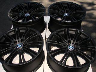 Rims Matte Black BMW M5 M6 528 M3 550 525 530 545 5 Lug Effect Wheels