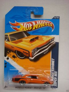 2012 Hot Wheels 69 Dodge Coronet Super Bee Error Super Treasure Hunt