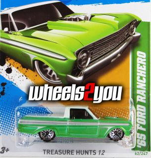 2012 Hot Wheels ** 65 FORD RANCHERO ** Treasure Hunt ** Case M ** NEW