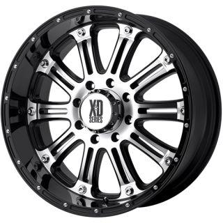 18 XD Hoss 8x170 F250 F350 99 04 Black Wheels Rims Free Lugs