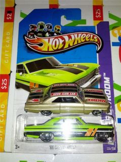 HOT WHEELS 66 CHEVY NOVA 1966 2013 showroom MOTOR CITY CLUB CAR