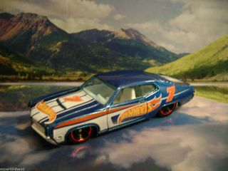 70 Ford Torino 2012 Hot Wheels Racing Series Blue