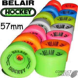 Belair Hockey Quad Rollerskate Wheels x8 Choose Colour for Bauer Roces