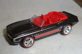 2012 Hot Wheels 69 Camaro Convertible Custom Super Treasure Hunt Real