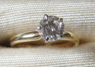 68 carat round diamond solitaire yellow gold platinum setting reduced