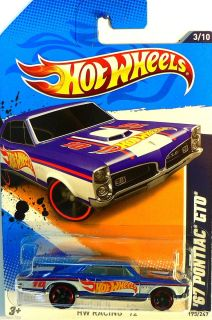 Hot Hot Wheels 2012 / HW RACING 12  67 Pontiac GTO   Race Team Blue