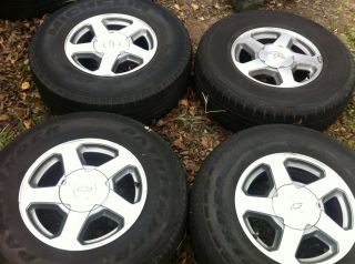 Chevy Trailblazer GMC Envoy 16 Aluminum Wheels Rims and Tires