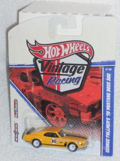 Hot Wheels 2011 Vintage Racing Series George Follmers 70 Mustang Boss
