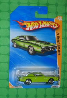 2010 Hot Wheels New Models 71 Dodge Charger Green