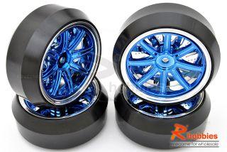 DRIFT Car 12 Sp 3mm DRIFT Sporty Wheels Rims DRIFT Tires 4pcs Bu