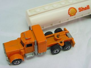 Shell Fuel Tanker Trailer 1980 Peterbuilt Vintage Hot Wheels