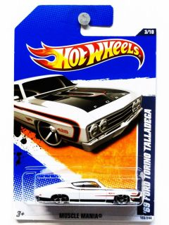Hot Wheels 11 103 69 Ford Torino Talladega 1 64 Die Cast
