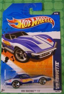 2011 Hot Wheels Racing 158 69 Corvette Blue