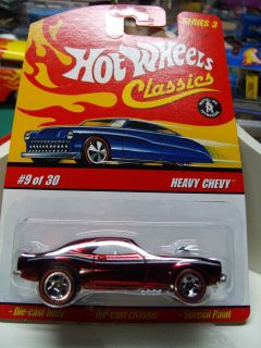 HOT WHEELS CARDED CLASSICS SERIES 3 METAL METAL RED 1968 HEAVY CHEVY