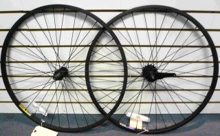 Bike 26x1 75 Wheels Wheelset Rims Black Rims w Black Spokes
