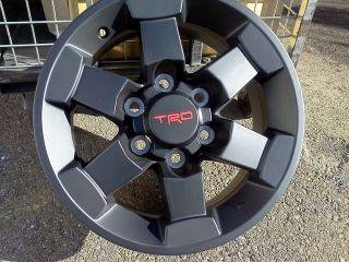 FJ Cruiser New Factory TRD 16 Alloy Black Trail Team Wheels X4