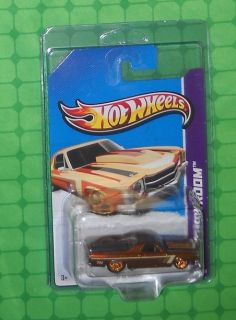 2013 Hot Wheels Super Treasure Hunt 71 El Camino Intl Card w Protecto